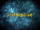 Fotografia Concetto di Finanza: Enterprise su fondo digitale