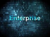 Fotografia Concetto di affari: Enterprise su fondo digitale