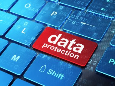 Privacy concept: Data Protection on computer keyboard background