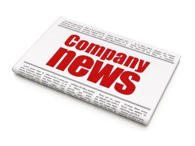News news concept: newspaper headline Company News