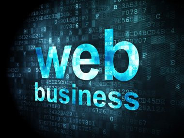 SEO web design concept: Web Business on digital background
