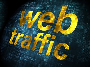 SEO web design concept: Web Traffic on digital background