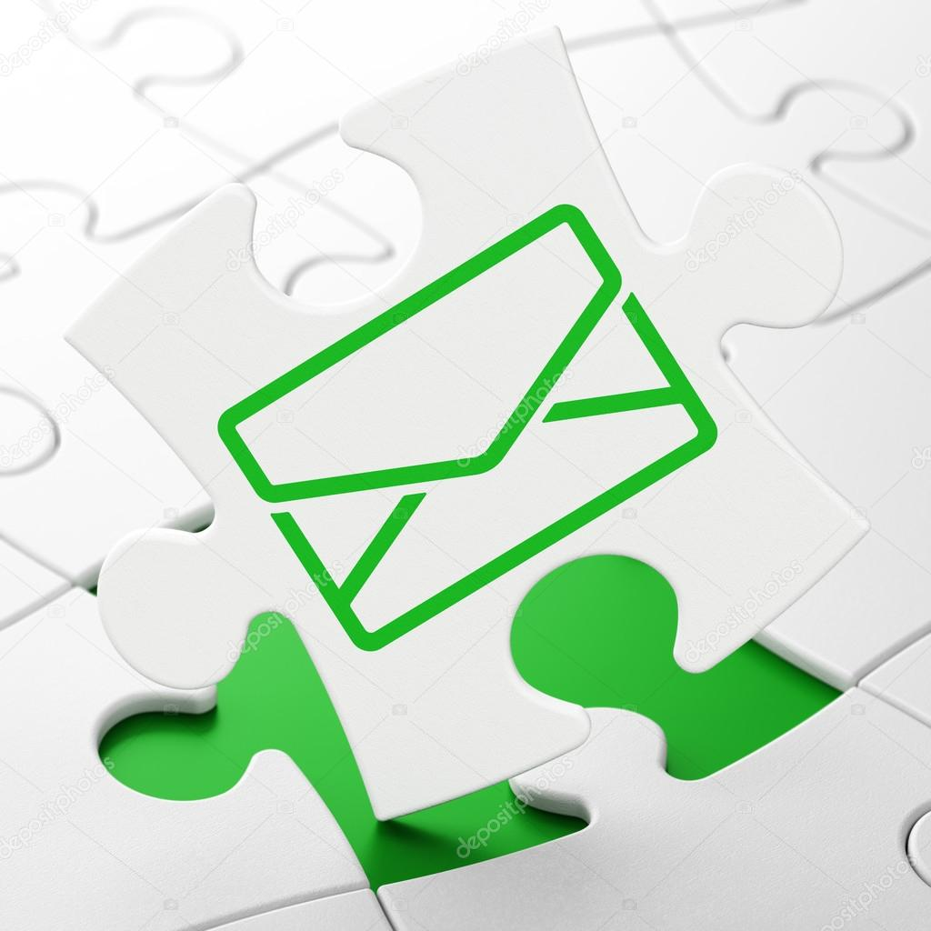 Background image email - Business Concept Email On White Puzzle Pieces Background 3d Render Photo By Maxkabakov