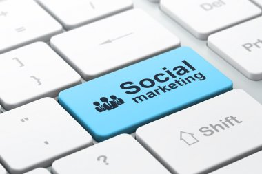 Marketing concept: Business People and Social Marketing