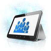 zákon koncept: obchodní tým v počítači tablet pc