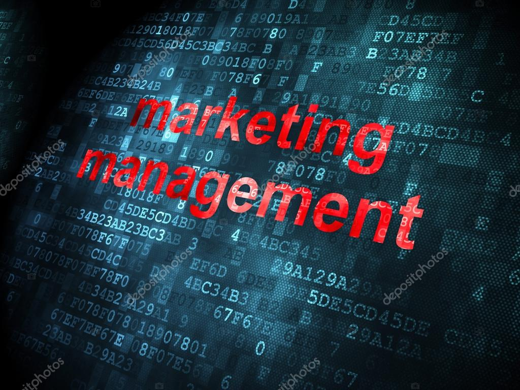 Marketing Concept Marketing Management On Digital Background