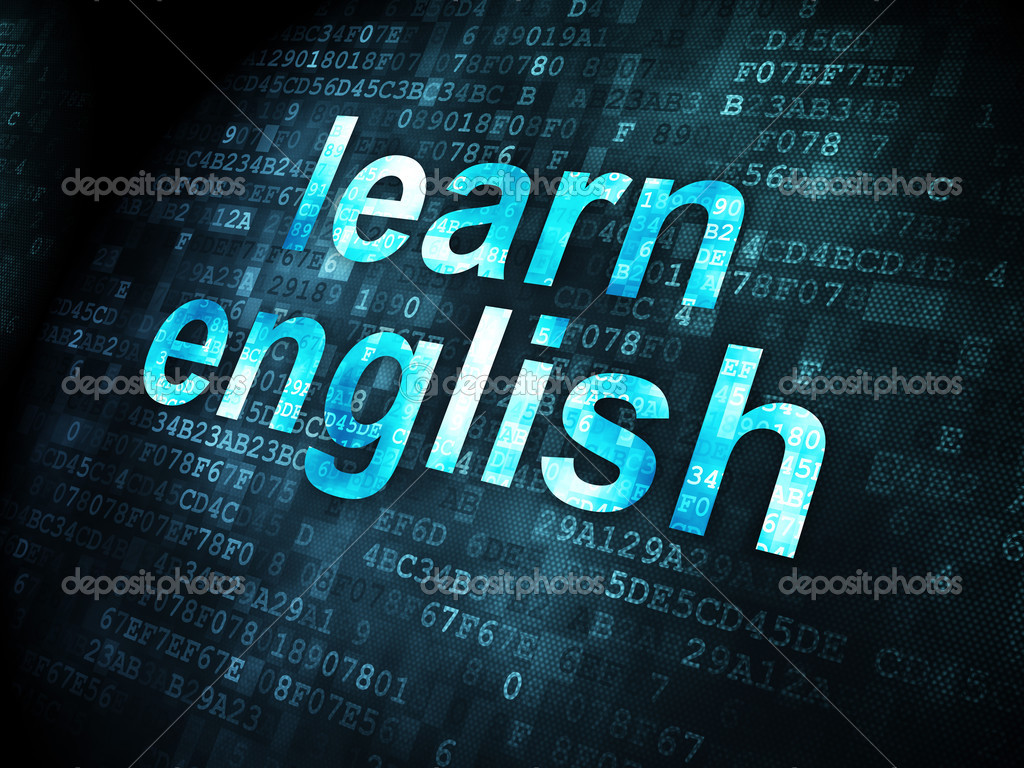 Education Concept Learn English On Digital Background Stock Photo