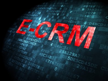 Business concept: E-CRM on digital background