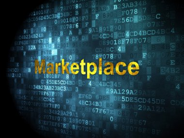 Advertising concept: Marketplace on digital background