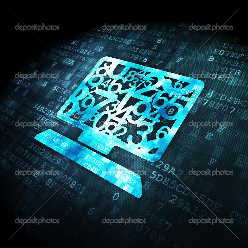 Eğitim Kavramı Bilgisayar Dijital Arka Plan üstünde Pc Stok Foto