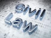 zákon koncept: stříbrná občanského práva o digitální pozadí