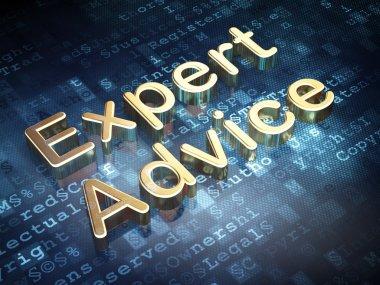 Law concept: Golden Expert Advice on digital background