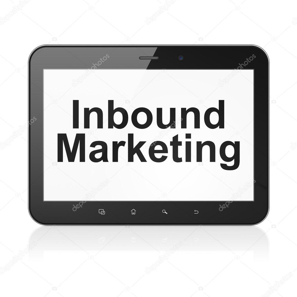 Business concept: Inbound Marketing on tablet pc computer