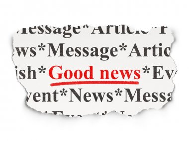 News concept: Good News on Paper background