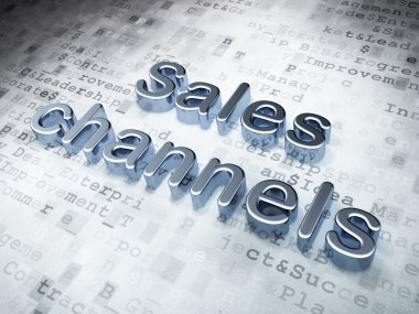 Marketing concept: Silver Sales Channels on digital background