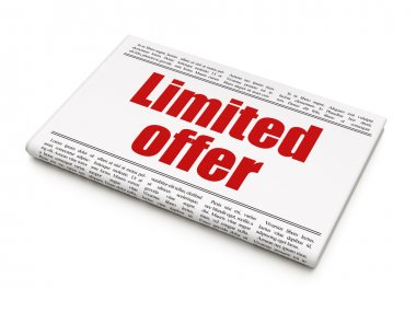 Finance concept: newspaper headline Limited Offer