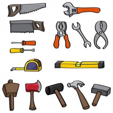 Cartoon Building Tools Set