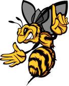 Fotografia immagine vettoriale di calabrone ape Vespa fumetto