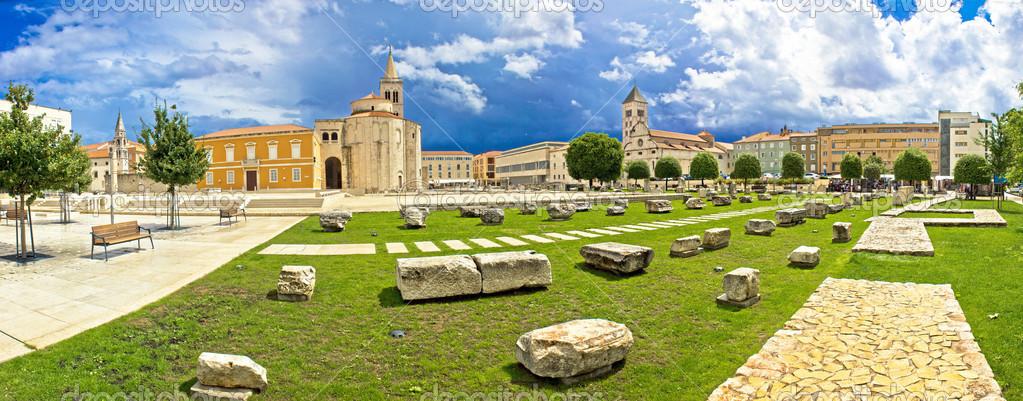 Zadar green square panoramic view