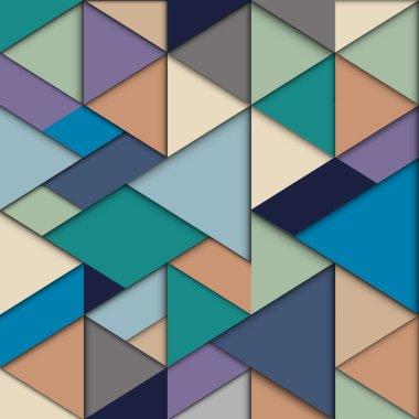 Origami background in retro colors. Vector eps10 clip art vector