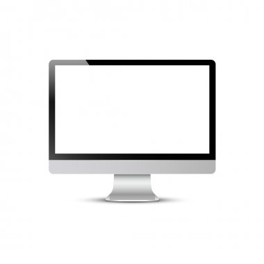 Vector computer screen isolated on white background