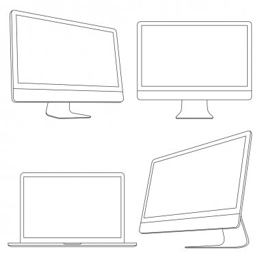 Computer displays and laptop