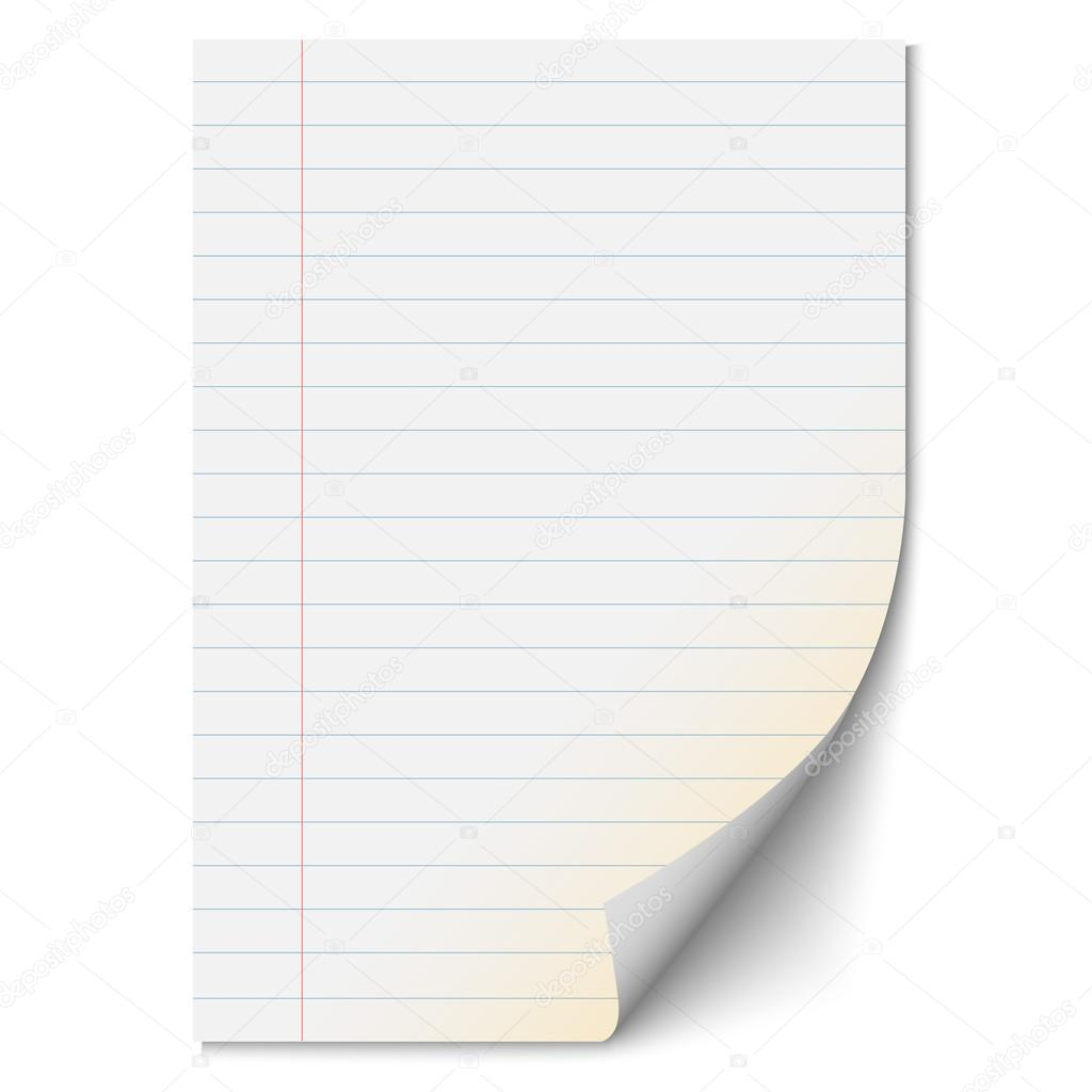 Blank Paper Sheet With Lines U2014 Stock Vector  Blank Sheet Of Paper With Lines