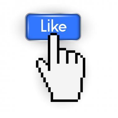 Like button and hand cursor