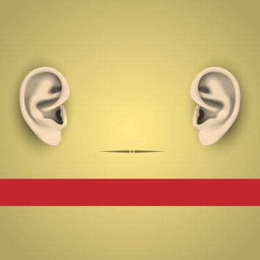 Vector illustration of human ears