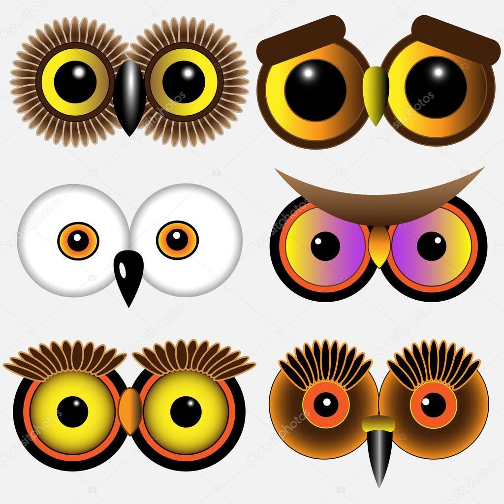 Imagenes Ojos De Buhos Ojos De Los Buhos Vector De Stock