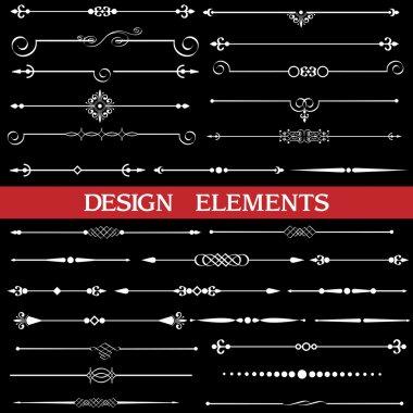 Set of calligraphic borders