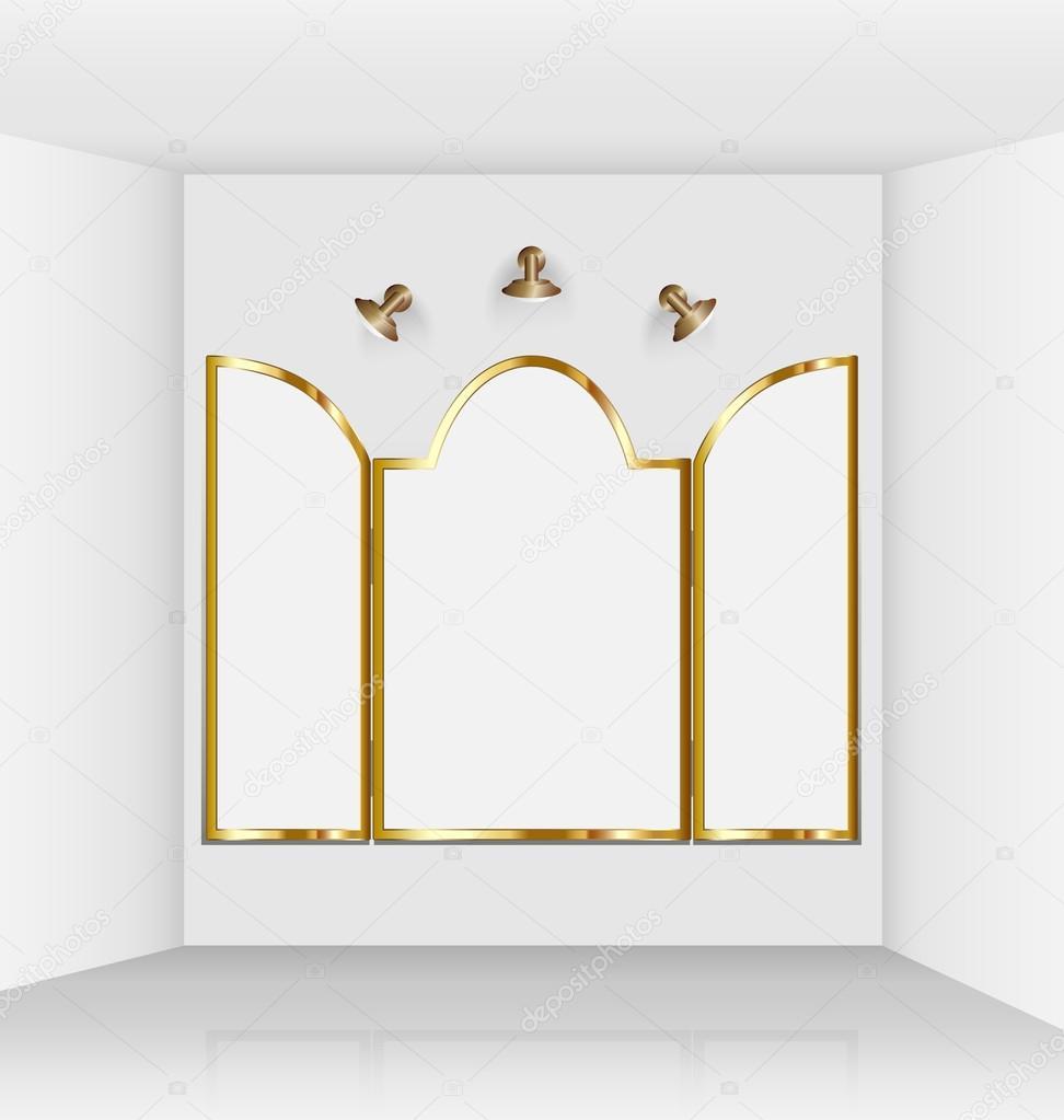 Galería de arte virtual con Marcos góticos — Vector de stock ...
