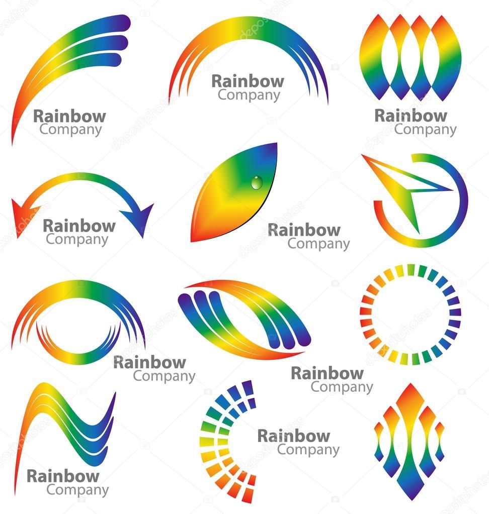 Rainbow logo vector collection — Stock Vector © Vladino ...