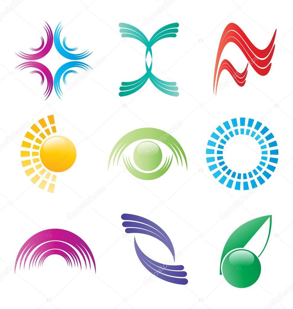 Bright logo vector collection — Stock Vector © Vladino ...