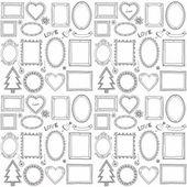 Photo Seamless doodle frame set