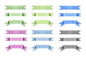 barevné starého papíru použít jako popisek nápisu na bílém pozadí