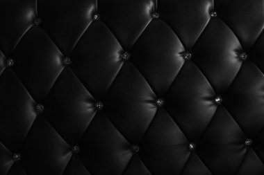 luxury texture of leather furniture decorated with crystal