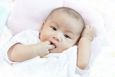 face of asian baby