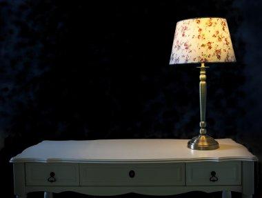 light lamp on white table