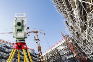 Surveyors measuring instrument in action
