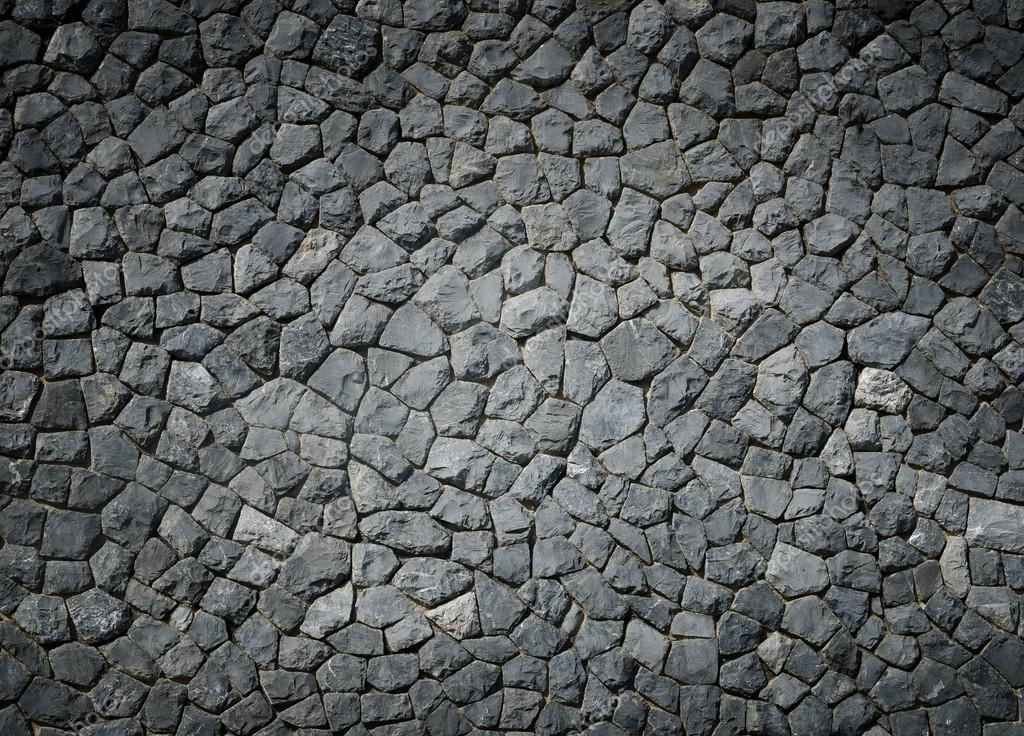 Nature Background Of Gray Stone Wall Texture Stock Photo