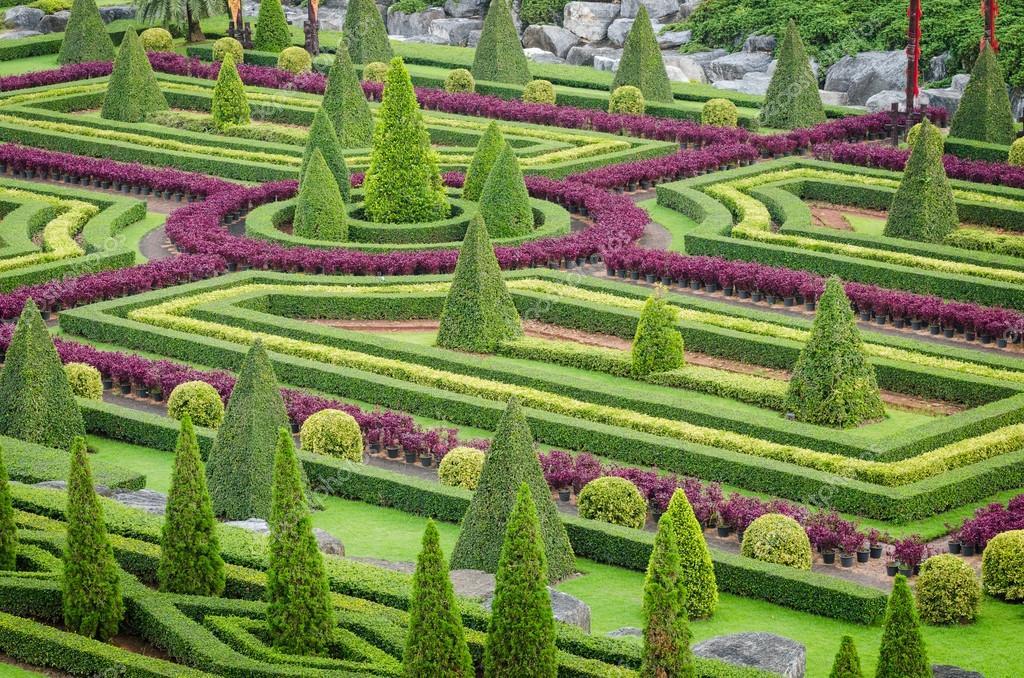 Plantas ornamentales rbol paisaje tropical en el jard n for Arboles ornamentales de jardin