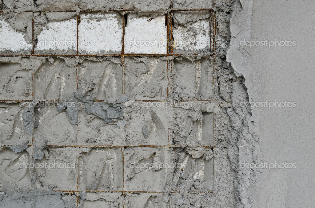 Reinforced concrete walls within the styrofoam stock for Styrofoam concrete walls