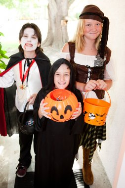 Three Children - Trick or Treat