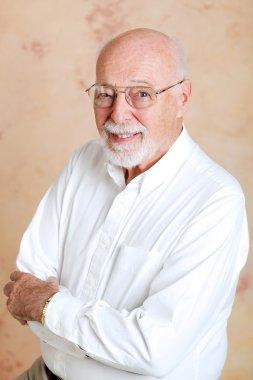 Portrait of Intelligent Senior Man
