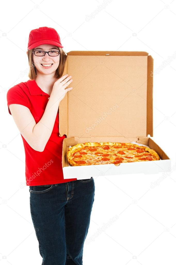 Pizza Girl Makes Delivery