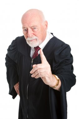 Stern Judge Wags Finger