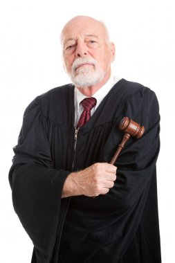 Stern Judge with Gavel