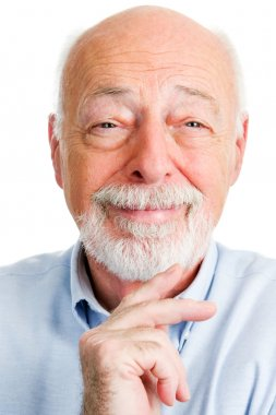 Closeup Portrait of Smiling Senior Man
