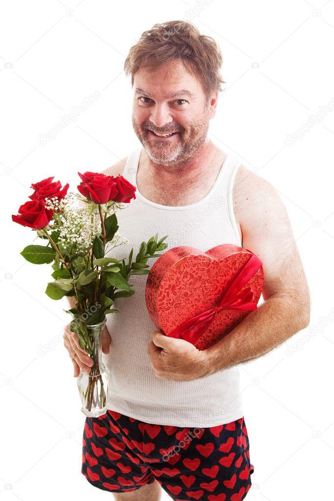 scruffy valentines guy in underwear stock photo 39022543 - Valentines Underwear